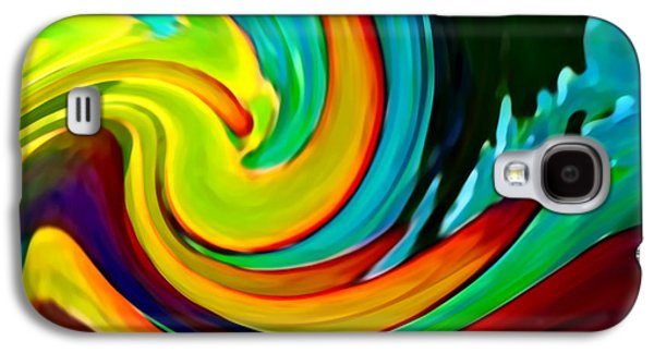 Abstract Digital Art Galaxy S4 Cases - Crashing Wave Galaxy S4 Case by Amy Vangsgard
