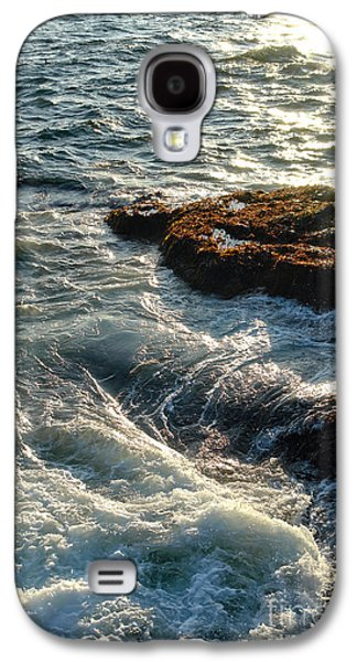 Maine Shore Galaxy S4 Cases - Crashing Waves Galaxy S4 Case by Olivier Le Queinec