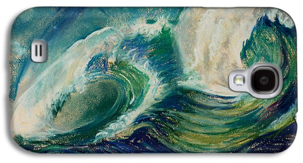 Waterscape Pastels Galaxy S4 Cases - Crashing Waves Galaxy S4 Case by Tina Pitsiavas