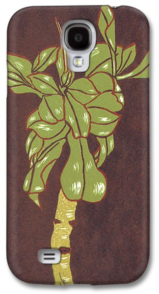 Lino Cut Drawings Galaxy S4 Cases - Crassula Portulacea Quata Galaxy S4 Case by N Gedze