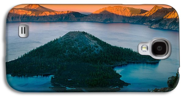 Otherworldly Galaxy S4 Cases - Crater Lake Sunset Galaxy S4 Case by Inge Johnsson