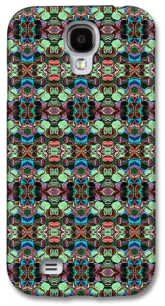 Abstract Digital Tapestries - Textiles Galaxy S4 Cases - CrazieArt Designs by Thia - Fabia Galaxy S4 Case by Thia Stover
