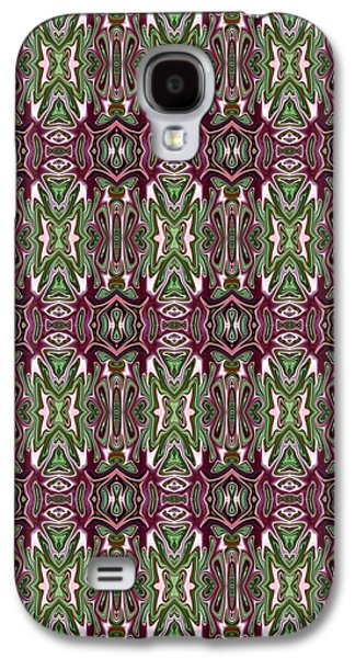 Abstract Digital Tapestries - Textiles Galaxy S4 Cases - CrazieArt Designs by Thia - Enya Galaxy S4 Case by Thia Stover