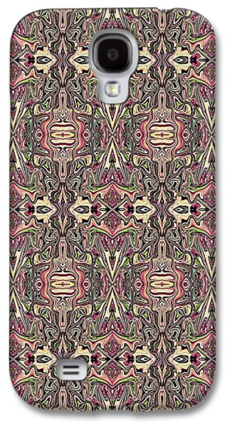Abstract Digital Tapestries - Textiles Galaxy S4 Cases - CrazieArt Designs by Thia - Helina Galaxy S4 Case by Thia Stover