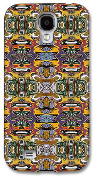 Abstract Digital Tapestries - Textiles Galaxy S4 Cases - CrazieArt Designs by Thia - Izzi Galaxy S4 Case by Thia Stover
