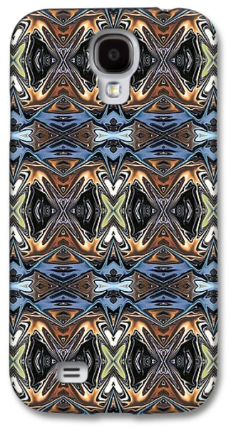 Abstract Digital Tapestries - Textiles Galaxy S4 Cases - CrazieArt Designs by Thia - Lalia Galaxy S4 Case by Thia Stover