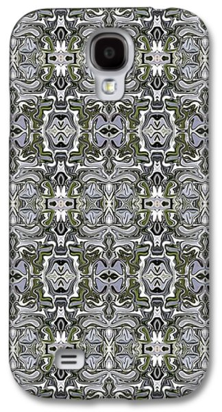 Abstract Digital Tapestries - Textiles Galaxy S4 Cases - CrazieArt Designs by Thia - Michelle Galaxy S4 Case by Thia Stover