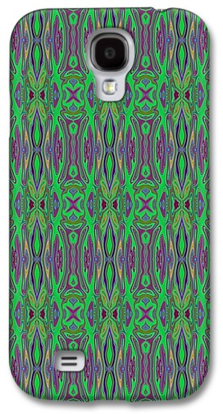 Abstract Digital Tapestries - Textiles Galaxy S4 Cases - CrazieArt Designs by Thia - Paulette Galaxy S4 Case by Thia Stover