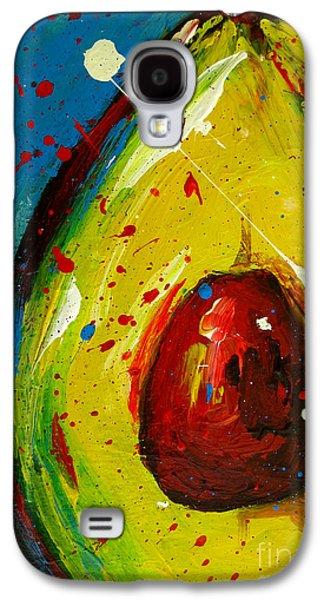 Interior Still Life Paintings Galaxy S4 Cases - Crazy Avocado 4 Galaxy S4 Case by Patricia Awapara