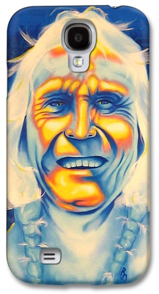 Brave Mixed Media Galaxy S4 Cases - Crazy Man Galaxy S4 Case by Robert Martinez