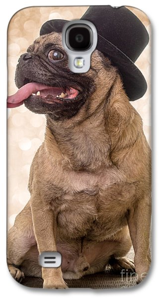 Puppies Galaxy S4 Cases - Crazy Top Dog Galaxy S4 Case by Edward Fielding