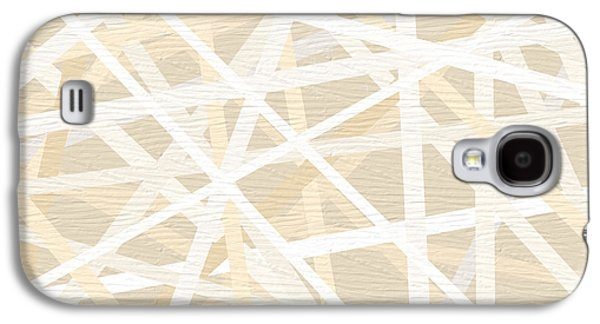 Beige Abstract Galaxy S4 Cases - Cream And Tan Art Galaxy S4 Case by Lourry Legarde