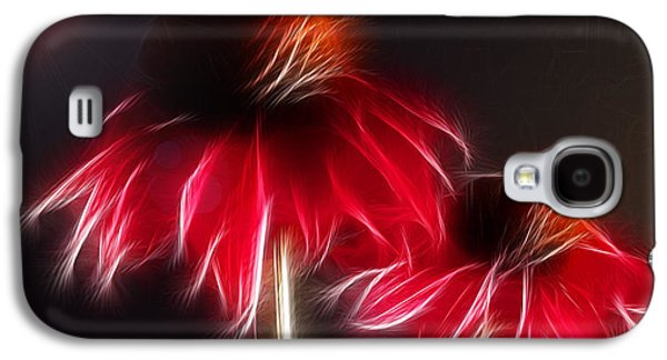 Abstracted Coneflowers Digital Galaxy S4 Cases - Creation Galaxy S4 Case by Patricia Motley