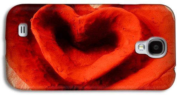 Ceramic Ceramics Galaxy S4 Cases - Creative Heart ceramic bowl Galaxy S4 Case by Poornima Ravi