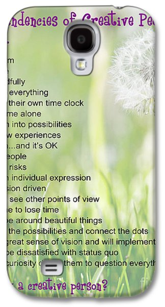 Laura Wrede Galaxy S4 Cases - Creative People Poster Galaxy S4 Case by Artist and Photographer Laura Wrede