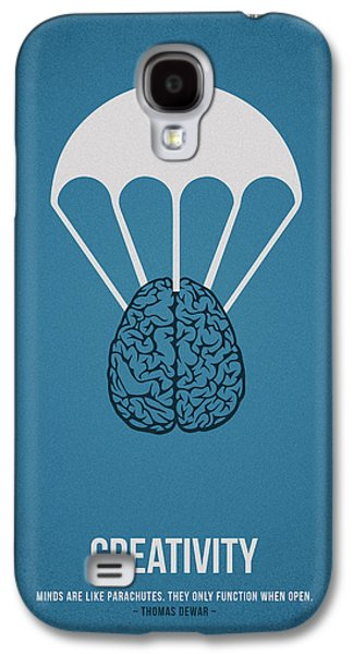 Thought Drawings Galaxy S4 Cases - Creativity Galaxy S4 Case by Aged Pixel