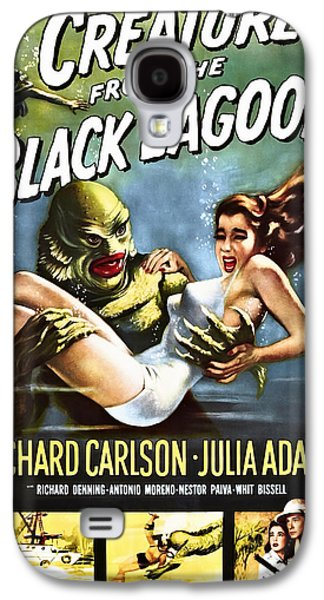 Recently Sold -  - Creepy Galaxy S4 Cases - CREATURE from the BLACK LAGOON LOBBY POSTER 1954 Galaxy S4 Case by Daniel Hagerman