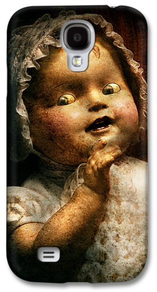 Creepy Galaxy S4 Cases - Creepy - Doll - Come play with me Galaxy S4 Case by Mike Savad