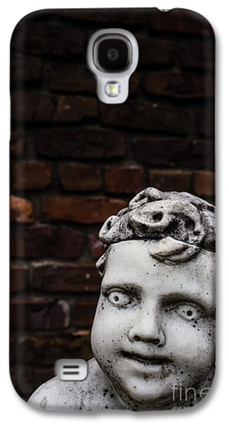 Marble Eye Galaxy S4 Cases - Creepy Marble Boy Garden Statue Galaxy S4 Case by Edward Fielding