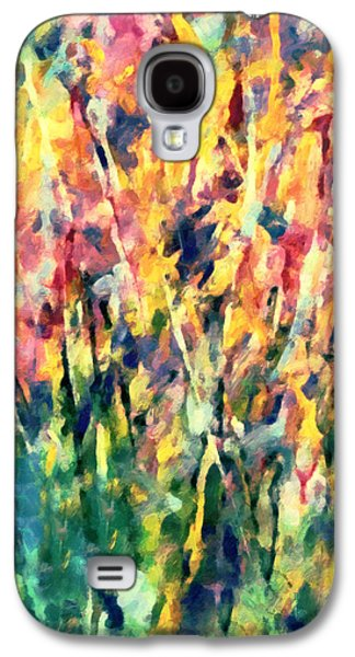 Abstract Digital Mixed Media Galaxy S4 Cases - Crescendo Of Spring Abstract Galaxy S4 Case by Georgiana Romanovna