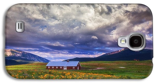 Storm Prints Photographs Galaxy S4 Cases - Crested Butte Morning Storm Galaxy S4 Case by Darren  White