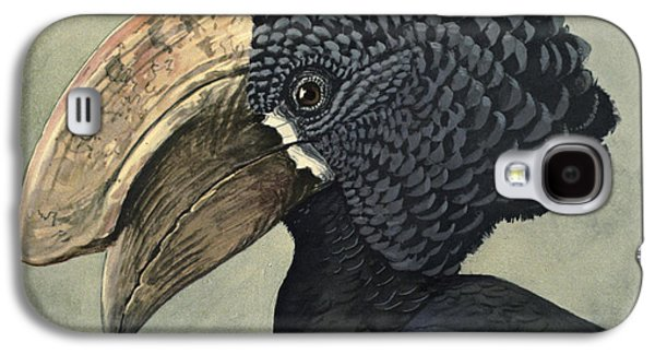 Crested Hornbill Galaxy S4 Case by Louis Agassiz Fuertes