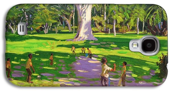 St George Galaxy S4 Cases - Cricket match St George Granada Galaxy S4 Case by Andrew Macara