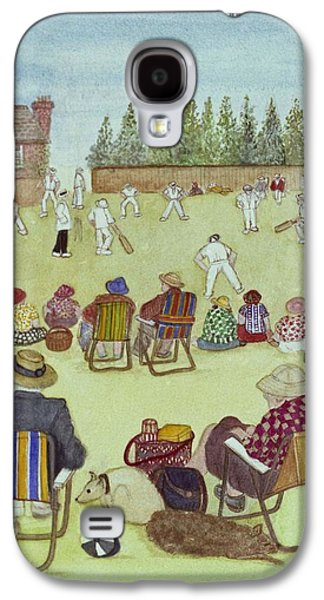 Cricket On The Green, 1987 Watercolour On Paper Galaxy S4 Case by Gillian Lawson