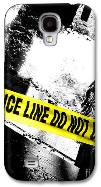 Law Enforcement Galaxy S4 Cases - Crime Scene Galaxy S4 Case by Olivier Le Queinec
