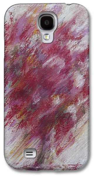 Still Life Pastels Galaxy S4 Cases - Crimson Bouquet Galaxy S4 Case by Rachel Christine Nowicki