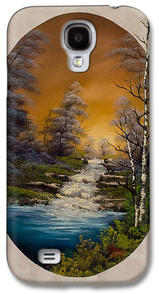 Bob Ross Paintings Galaxy S4 Cases - Copper Skies Galaxy S4 Case by C Steele