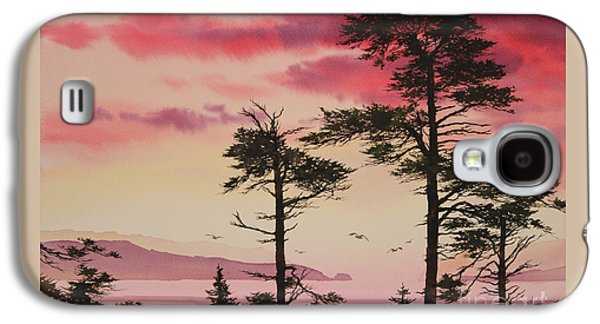 Sunset Greeting Cards Galaxy S4 Cases - Crimson Sunset Splendor Galaxy S4 Case by James Williamson