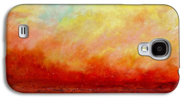 Waterscape Galaxy S4 Cases - Crimson Galaxy S4 Case by Teresa Wegrzyn