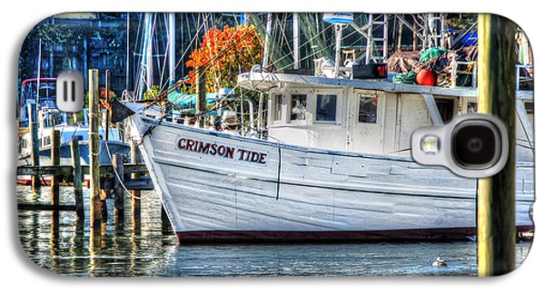 Crimson Tide Galaxy S4 Cases - Crimson Tide in Harbor Galaxy S4 Case by Michael Thomas