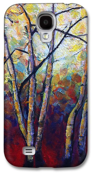 Branches Paintings Galaxy S4 Cases - Criss Cross Galaxy S4 Case by Mary Medrano