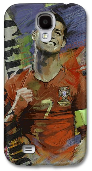 Athletes Paintings Galaxy S4 Cases - Cristiano Ronaldo - B Galaxy S4 Case by Corporate Art Task Force