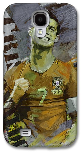Athletes Paintings Galaxy S4 Cases - Cristiano Ronaldo Galaxy S4 Case by Corporate Art Task Force