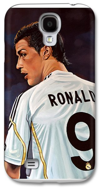 Number Galaxy S4 Cases - Cristiano Ronaldo Galaxy S4 Case by Paul Meijering
