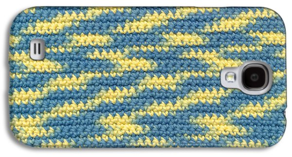 Macro Tapestries - Textiles Galaxy S4 Cases - Crochet made with variegated yarn Galaxy S4 Case by Kerstin Ivarsson