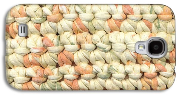Light Tapestries - Textiles Galaxy S4 Cases - Crochet rag rug in pastel colours Galaxy S4 Case by Kerstin Ivarsson