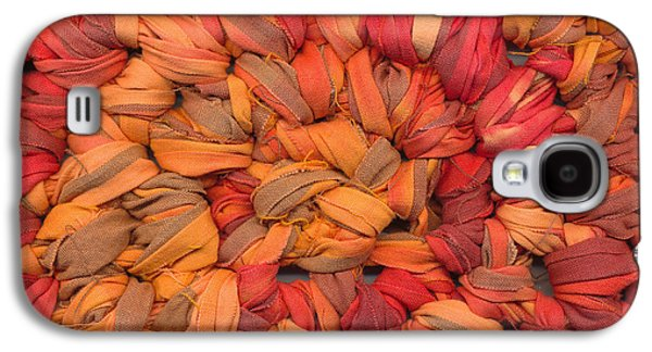Colorful Abstract Tapestries - Textiles Galaxy S4 Cases - Crochet Rag Rug Galaxy S4 Case by Kerstin Ivarsson