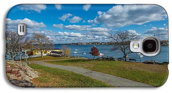 Landscapes Photographs Galaxy S4 Cases - Crocker Park and Marblehead Harbor Galaxy S4 Case by Dan Dixey