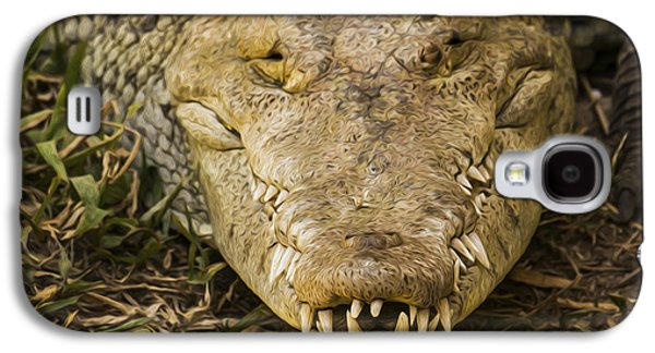 Bite Galaxy S4 Cases - Crocodile Galaxy S4 Case by Aged Pixel