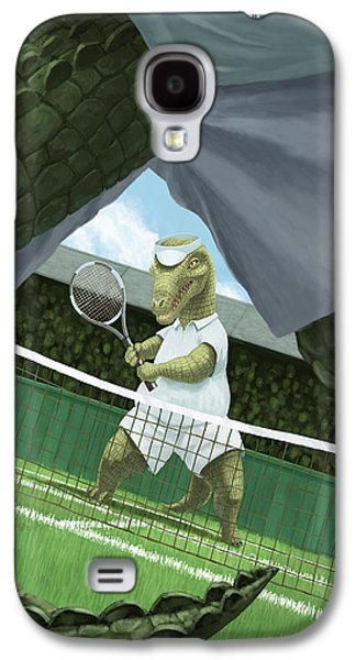 Reptiles Digital Galaxy S4 Cases - Crocodiles Playing Tennis At Wimbledon  Galaxy S4 Case by Martin Davey