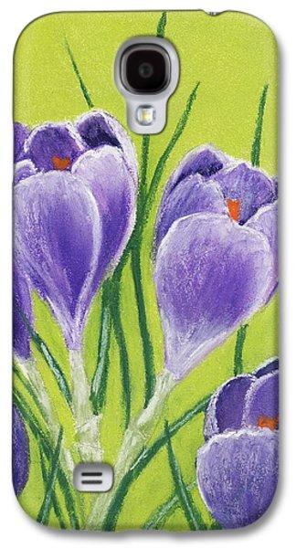 Light Pastels Galaxy S4 Cases - Crocus Galaxy S4 Case by Anastasiya Malakhova