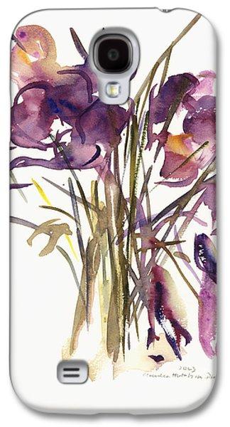 Tasteful Art Galaxy S4 Cases - Crocus Galaxy S4 Case by Claudia Hutchins-Puechavy