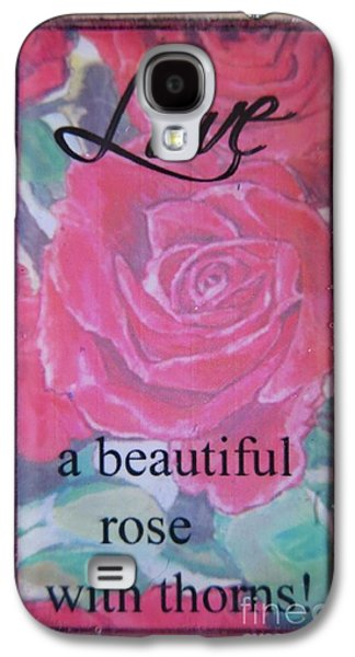 Nature Scene Jewelry Galaxy S4 Cases - Love Is... Made into a Necklace  Galaxy S4 Case by Kimberlee  Baxter