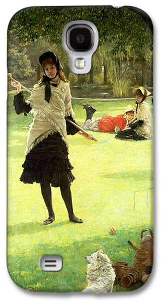 Game Photographs Galaxy S4 Cases - Croquet, C.1878 Oil On Canvas Galaxy S4 Case by James Jacques Joseph Tissot