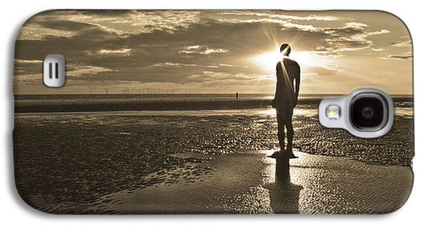 Storm Prints Photographs Galaxy S4 Cases - Crosby Beach Sepia Sunset Galaxy S4 Case by Paul Madden