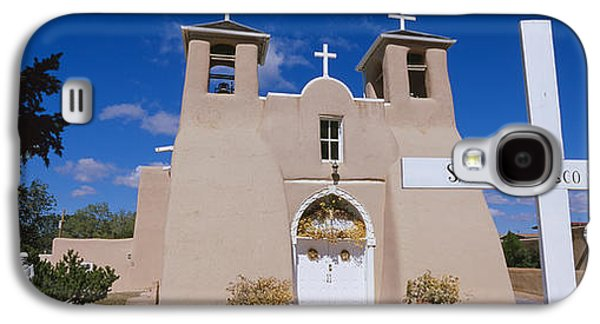 Taos Galaxy S4 Cases - Cross In Front Of A Church, San Galaxy S4 Case by Panoramic Images